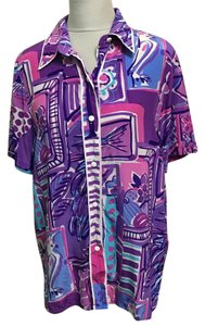 Bob Mackie Top Purple, Pink, White
