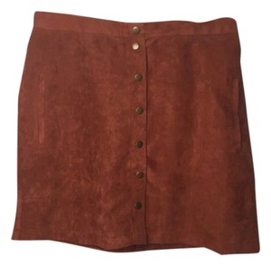 Love by Design Mini Skirt brown and burgundy