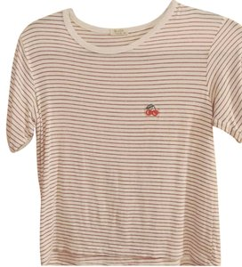 Brandy Melville T Shirt red and white