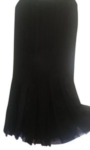 Magaschoni Silk Deconstructed Long Mermaid Skirt black