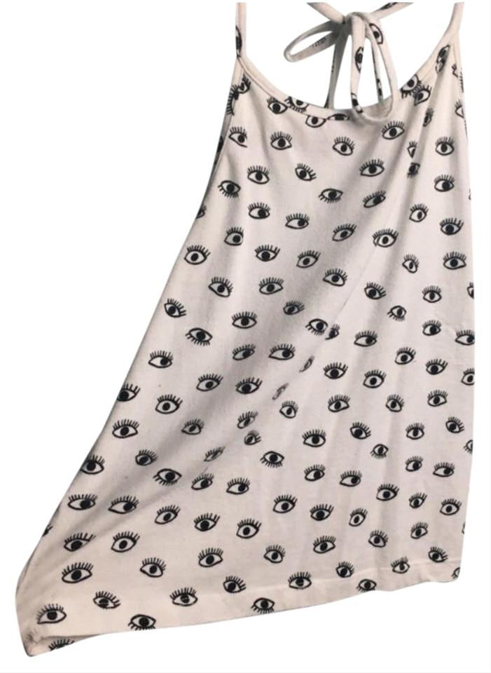 a3f2d878fe8 Brandy Melville Black and White Cropped Halter Top Size 6 (S) - Tradesy