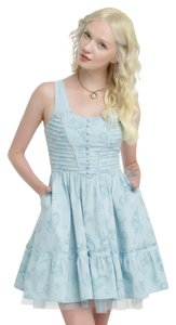 Hot Topic short dress Light Blue Alice In Wonderland Looking Glass Tea Party on Tradesy
