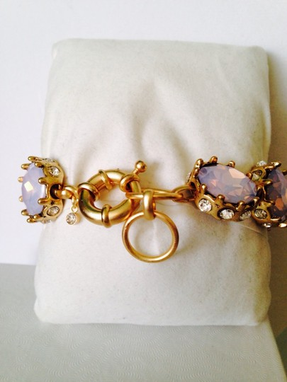 Anne Klein 2-Piece Set, Faceted Pink Iridescent & Crystal Bracelet & Earrings Image 3