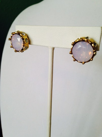 Anne Klein 2-Piece Set, Faceted Pink Iridescent & Crystal Bracelet & Earrings Image 4