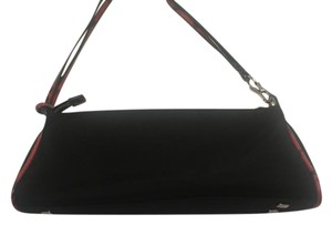 Apostrophe Leather Trim Nylon Strap Shoulder Bag