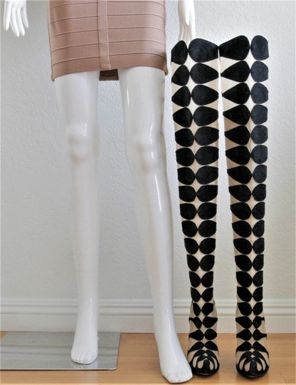 Christian Louboutin Pumps Thigh High Over The Knee Black Boots Image 2