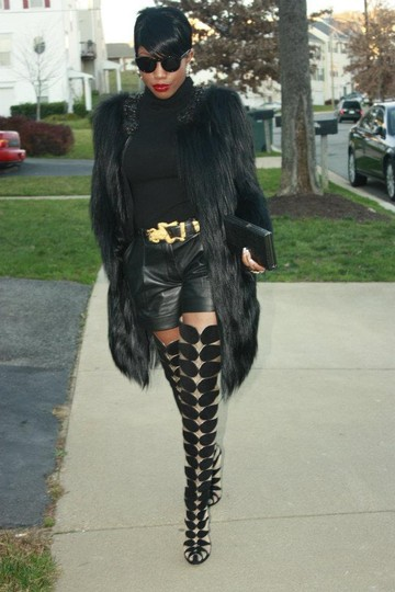 Christian Louboutin Pumps Thigh High Over The Knee Black Boots Image 3