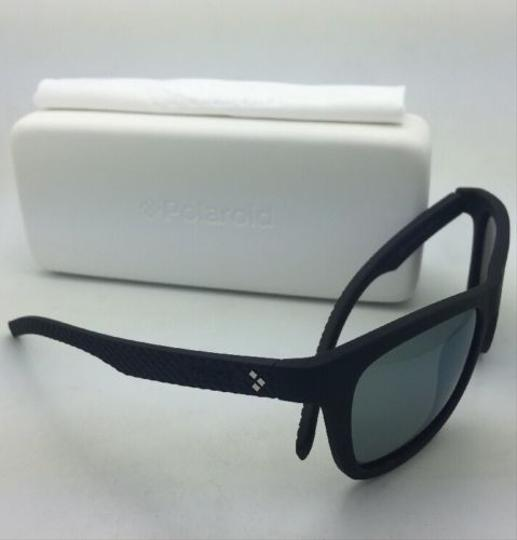 Polaroid POLAROID Sunglasses PLD 7008/N DL5 LM 54-20 Black Rubberized w/ Mirror Image 2