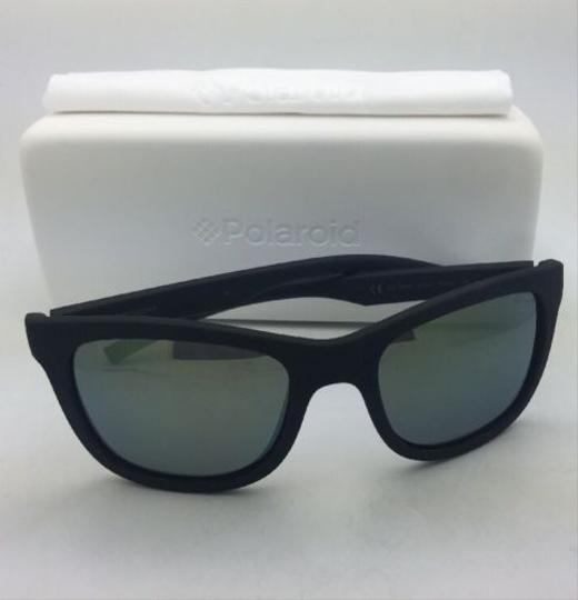 Polaroid POLAROID Sunglasses PLD 7008/N DL5 LM 54-20 Black Rubberized w/ Mirror Image 3