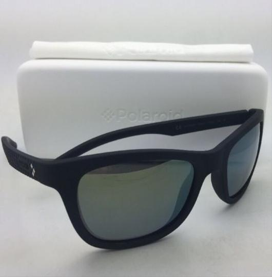 Polaroid POLAROID Sunglasses PLD 7008/N DL5 LM 54-20 Black Rubberized w/ Mirror Image 5