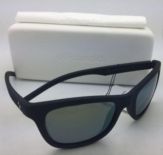 Polaroid POLAROID Sunglasses PLD 7008/N DL5 LM 54-20 Black Rubberized w/ Mirror Image 6