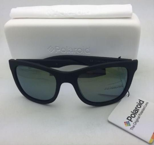 Polaroid POLAROID Sunglasses PLD 7008/N DL5 LM 54-20 Black Rubberized w/ Mirror Image 7