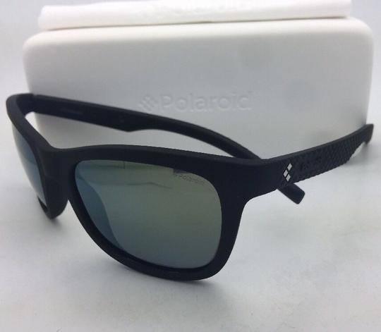 Polaroid POLAROID Sunglasses PLD 7008/N DL5 LM 54-20 Black Rubberized w/ Mirror Image 8