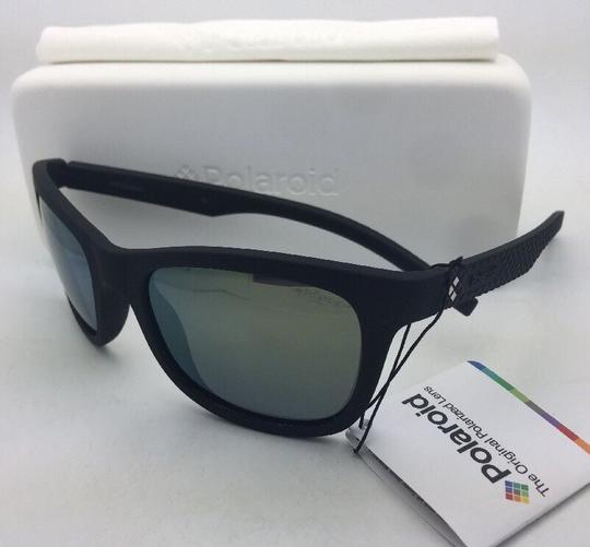 Polaroid POLAROID Sunglasses PLD 7008/N DL5 LM 54-20 Black Rubberized w/ Mirror Image 9