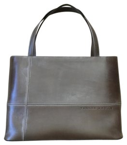 Tanner Krolle Taupe Leather Topstitch Tote in Taupe-brown