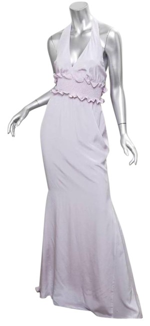 Item - Violet Pastel Halter Sleeveless Full Length Open Back Long Formal Dress Size 6 (S)
