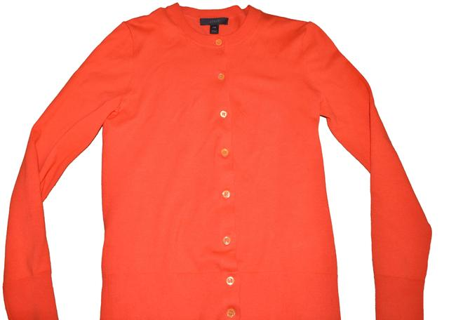 Item - Orange Cotton Blend Jackie Sweater Xxs Cardigan Size 00 (XXS)