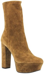 Gucci 353710 Leather Ankle Brown Boots