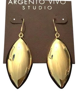 Argento Vivo Oversized Lightweight Gold Drops