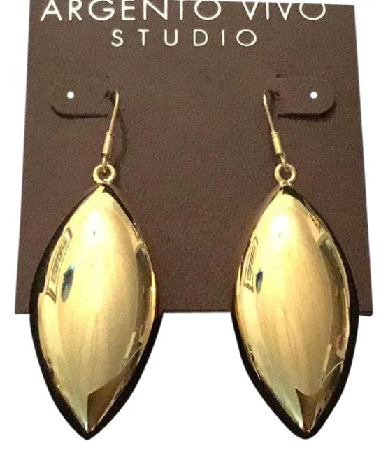 Argento Vivo Gold Oversized Lightweight Drops Earrings Argento Vivo Gold Oversized Lightweight Drops Earrings Image 1