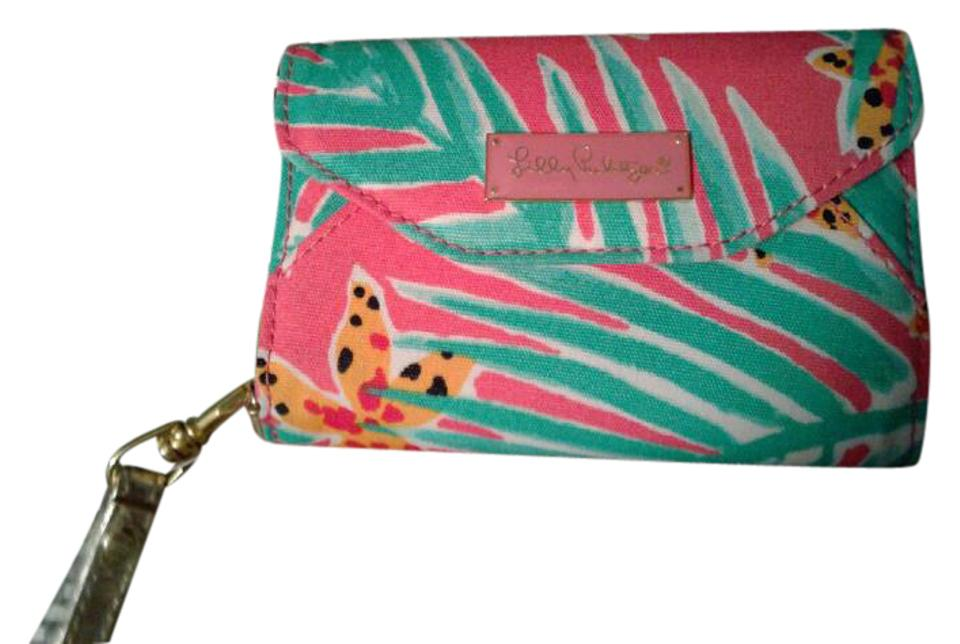 Lilly Pulitzer Colorful Multi Colored Pink Green White Wristlet 29% Off  Retail