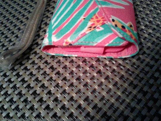 Lilly Pulitzer Wristlet in multi colored, pink, green white Image 4