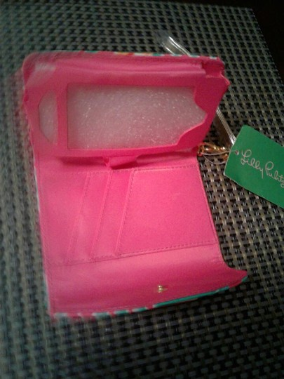 Lilly Pulitzer Wristlet in multi colored, pink, green white Image 6