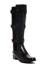 Cole Haan Black Buckled Stretch Boots