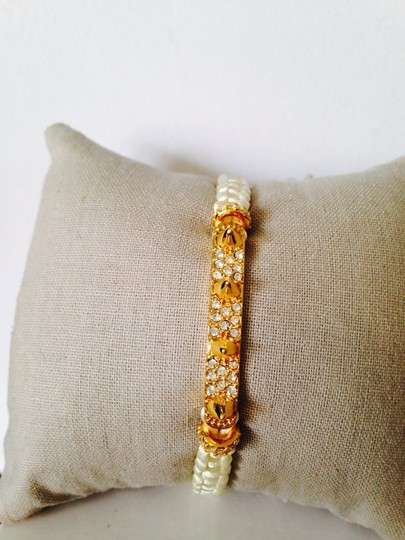 Tai Crystal Spike & Woven Cord Adjustable Bracelet
