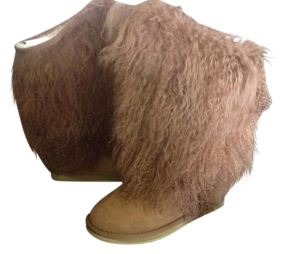 ab974d7baff Australia Luxe Collective Genuine Shearling Suede Shearling Cuff Chestnut  Boots Image 0 ...