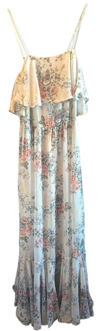 Preload https://item3.tradesy.com/images/beyond-vintage-maxi-dress-pale-eggshell-bluegrey-with-floral-print-2176397-0-0.jpg?width=400&height=650