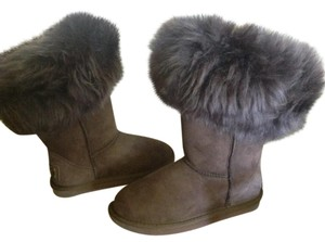 Australia Luxe Collective Genuine Shearling Shearling Cuff Suede Brown Boots