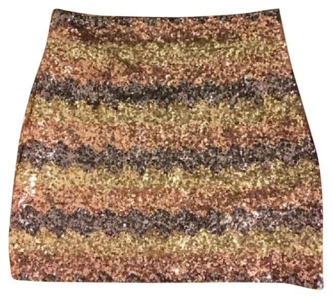 Item - Multi Colored Sequined Skirt Size 2 (XS, 26)