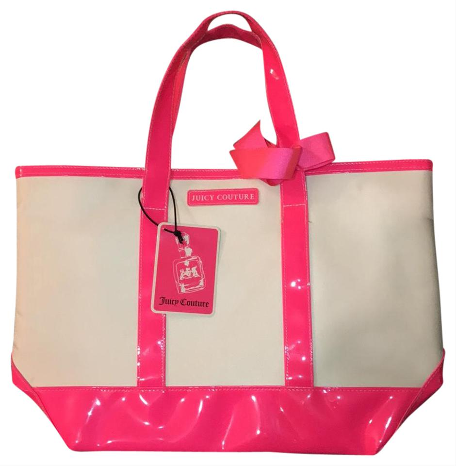 juicy couture white pink tote bag on sale 54 off totes on sale. Black Bedroom Furniture Sets. Home Design Ideas