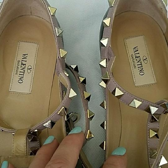 Valentino Black and nude with gold studs Flats Image 2