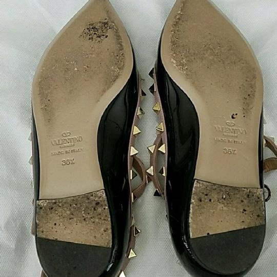 Valentino Black and nude with gold studs Flats Image 3