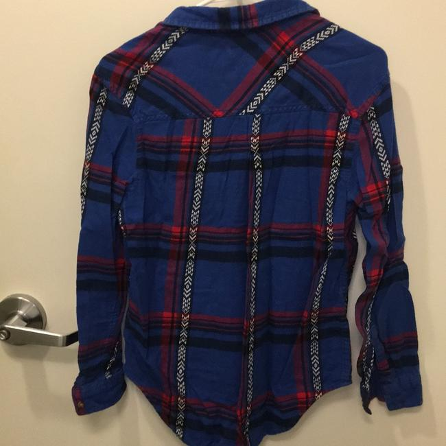 Urban Outfitters Button Down Shirt blue and red Image 1