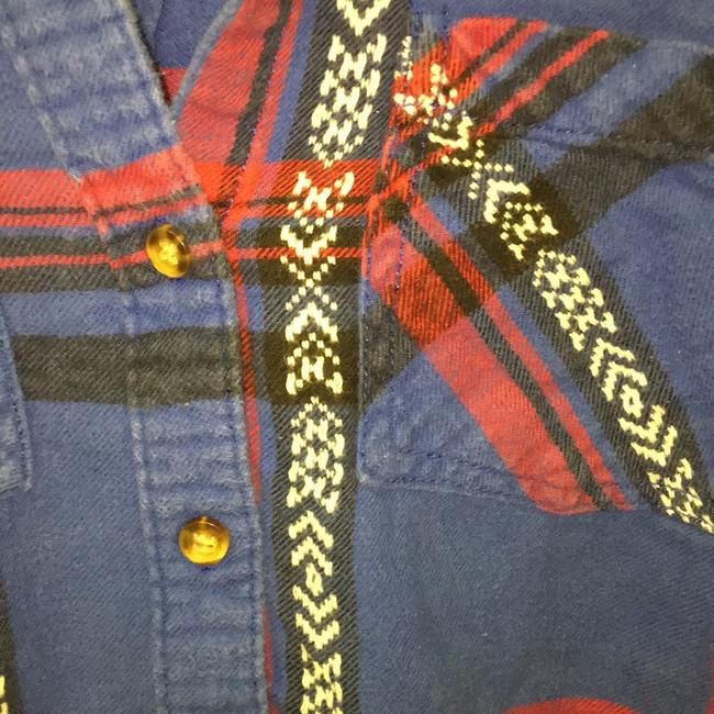 Urban Outfitters Button Down Shirt blue and red Image 2