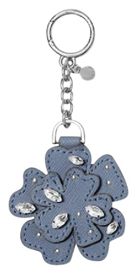 Preload https://img-static.tradesy.com/item/21764871/michael-kors-denim-blue-crystal-leather-flower-key-chain-pretty-box-0-1-540-540.jpg