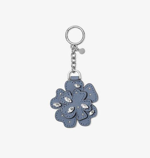 Michael Kors Michael Kors Crystal Leather Flower Key Chain Blue pretty!!! Box NWT Image 1
