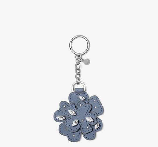 Michael Kors Michael Kors Crystal Leather Flower Key Chain Blue pretty!!! Box NWT Image 3