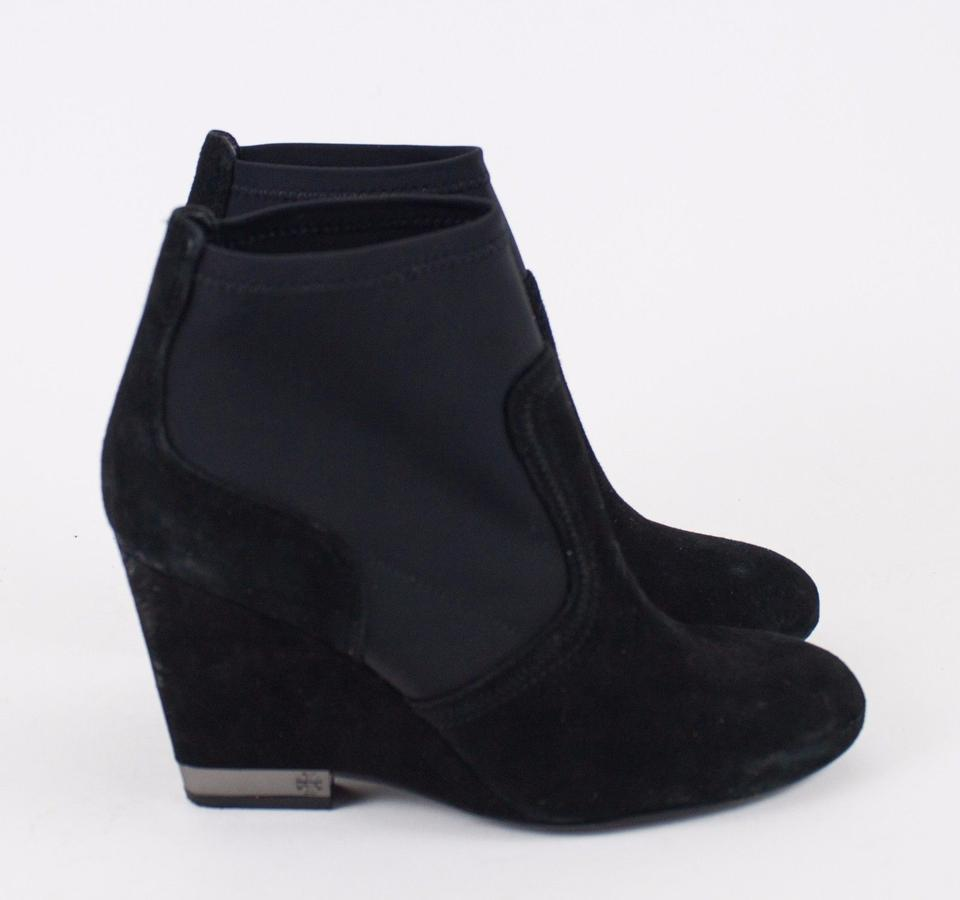 03981bb2e9ab Tory Burch Black Brenda Suede Lycra Wedge Ankle Boots Booties. Size  US 8.5  ...