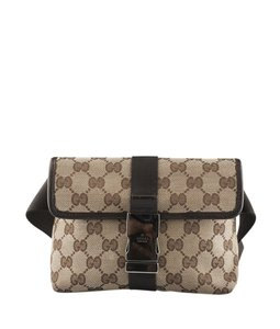 Gucci Waist Canvas Brown Travel Bag