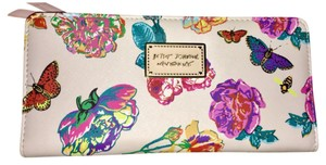 Betsey Johnson butterfly floral rose double sided wallet