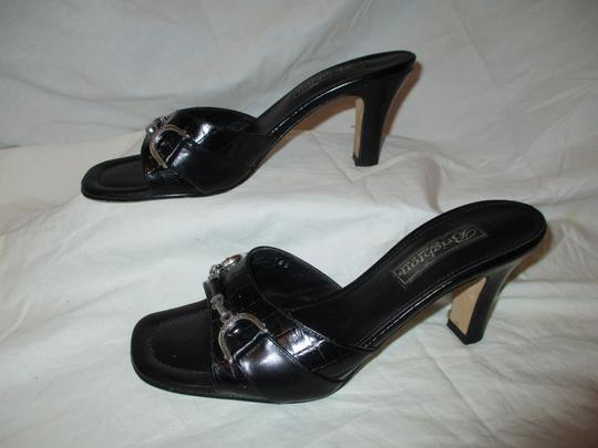 Brighton Leather Croc Slides Hcrr black Sandals Image 2