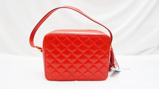 St. John Vintage Garnet Quilted Satchel in Red