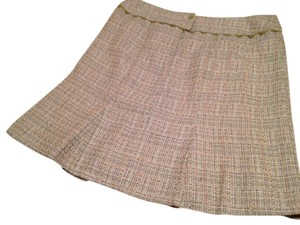 Nanette Lepore Flared Fully Lined Size 6 Skirt Green tweed