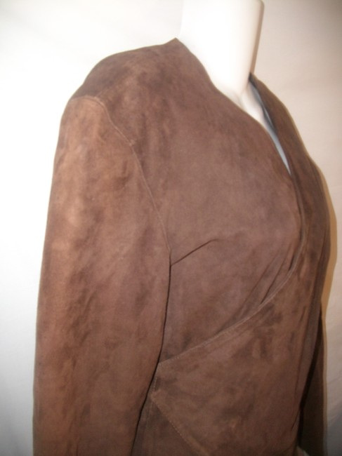 Paola Leather Santini Wrap Brown Jacket Image 1