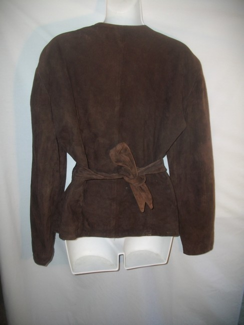 Paola Leather Santini Wrap Brown Jacket Image 2