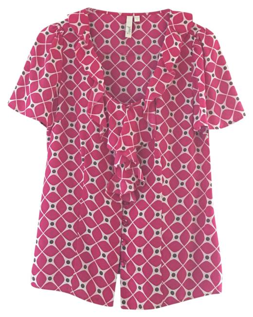 Item - Pink & White Blouse Size 4 (S)